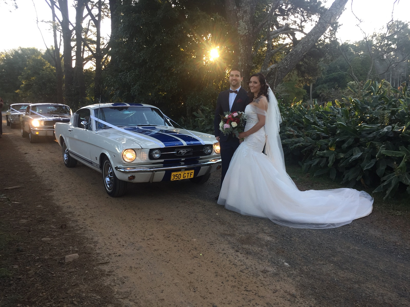 mustang wedding car hire